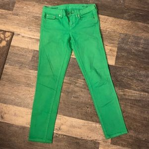 Green ankle toothpick skinny jeans - Gap size 27